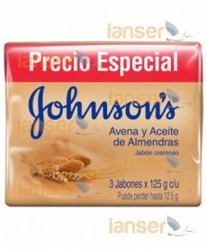 Jabón Tripack Avena Y Aceite De Almendras 125 Gr C-U
