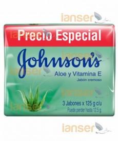 Jabón Tripack Aloe Y Vitamina E 125 Gr C-U